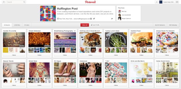 The Huffington Post Pinterest Page