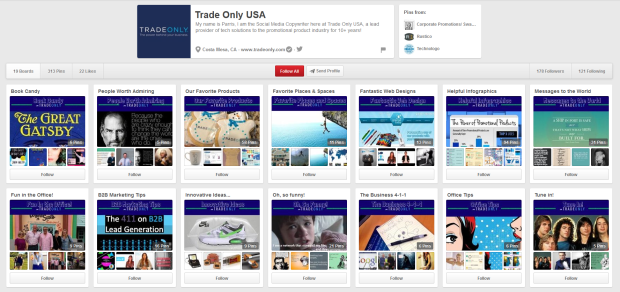 The Trade Only Pinterest Page