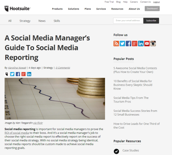 HootSuite Blog Example