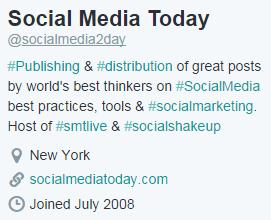 Social Media Today Bio