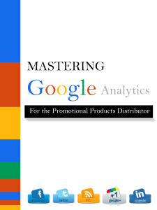 Master Google Analytics For the Promotional Products Distributor